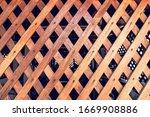 Diagonal Crossed Wooden Planks...