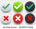 set of check and cross icon  ... | Shutterstock .eps vector #1669917646