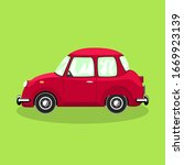 red retro car isolated on a... | Shutterstock .eps vector #1669923139