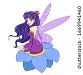 beautiful cartoon fairy with...   Shutterstock .eps vector #1669941460