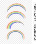 rainbow icon realistic. perfect ... | Shutterstock .eps vector #1669946053