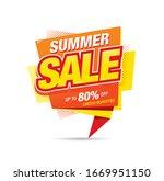 summer sale banner layout... | Shutterstock .eps vector #1669951150
