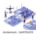 renewable energy isometric...
