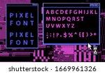 pixel alphabet letters and...   Shutterstock .eps vector #1669961326