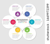 vector circular infographic... | Shutterstock .eps vector #1669972399