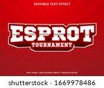 esport trounament text effect... | Shutterstock .eps vector #1669978486