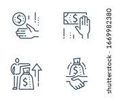 salary negotiation  employee... | Shutterstock .eps vector #1669982380