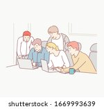 group of business people...   Shutterstock .eps vector #1669993639