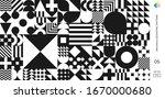 bauhaus swiss minimal pattern... | Shutterstock .eps vector #1670000680