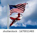 American Flag and Alabama State Flag