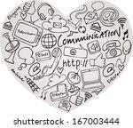 various communication internet... | Shutterstock .eps vector #167003444