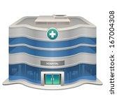 vector hospital icon | Shutterstock .eps vector #167004308