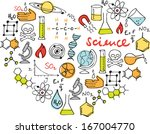 i love science   various... | Shutterstock .eps vector #167004770