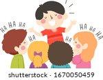 illustration of a kid boy... | Shutterstock .eps vector #1670050459