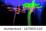 digital effects. multicolor... | Shutterstock . vector #1670051110