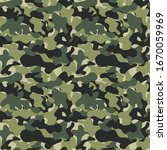 camouflage seamless pattern... | Shutterstock .eps vector #1670059969