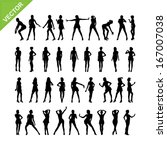 sexy women silhouettes vector... | Shutterstock .eps vector #167007038