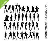 sexy women adn dancing... | Shutterstock .eps vector #167007044