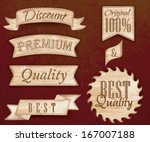 set of ribbons and labels with... | Shutterstock .eps vector #167007188