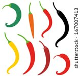 Chili Pepper Set. Abstract...