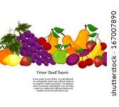 fruit design borders isolated... | Shutterstock .eps vector #167007890