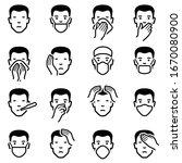 man face illness disease flu... | Shutterstock .eps vector #1670080900