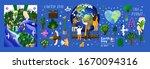 earth day  vector illustration...   Shutterstock .eps vector #1670094316