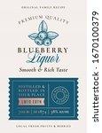 family recipe blueberry liquor... | Shutterstock .eps vector #1670100379