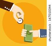 time exchange to money | Shutterstock .eps vector #167010344