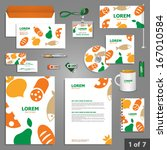 culinary stationery template... | Shutterstock .eps vector #167010584