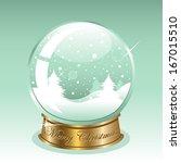 snow globe | Shutterstock .eps vector #167015510