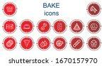 editable 14 bake icons for web... | Shutterstock .eps vector #1670157970
