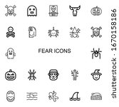 editable 22 fear icons for web... | Shutterstock .eps vector #1670158186