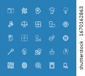 editable 25 solution icons for... | Shutterstock .eps vector #1670162863