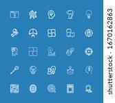 editable 25 solution icons for... | Shutterstock .eps vector #1670162863