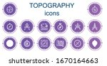 editable 14 topography icons... | Shutterstock .eps vector #1670164663
