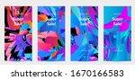 abstract social media template...   Shutterstock .eps vector #1670166583