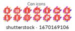 can icon set. 14 filled can... | Shutterstock .eps vector #1670169106