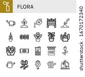 set of flora icons. such as... | Shutterstock .eps vector #1670172340