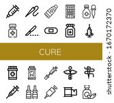 set of cure icons. such as... | Shutterstock .eps vector #1670172370