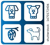 set of breed icons. such as dog ...   Shutterstock .eps vector #1670172406