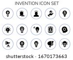 invention icon set. 15 filled... | Shutterstock .eps vector #1670173663
