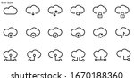 set of cloud vector line icon.... | Shutterstock .eps vector #1670188360