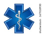 medical symbol of the emergency | Shutterstock .eps vector #167018930