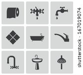 bath,bathroom,beauty,black,care,cleaning,collection,design,faucet,hair,health,hygiene,icon,illustration,isolated