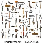 vintage collectible tools... | Shutterstock . vector #167020358