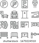car parking set vector... | Shutterstock .eps vector #1670224510