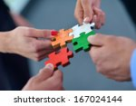 group of business people... | Shutterstock . vector #167024144