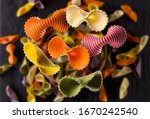 Top View Of Colorful Farfalle...