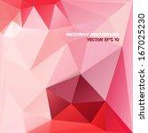 red vector geometric background.... | Shutterstock .eps vector #167025230